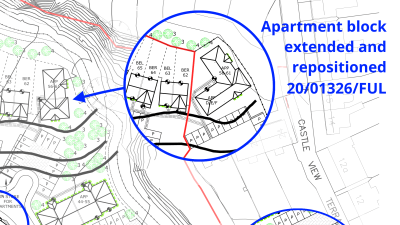 Six additional homes to be squeezed into the high density Fishmore Quarry development which lacks open space