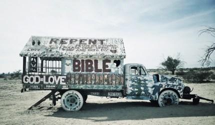 Truck folk art near Palm Springs California. Image by Andy Bondurant