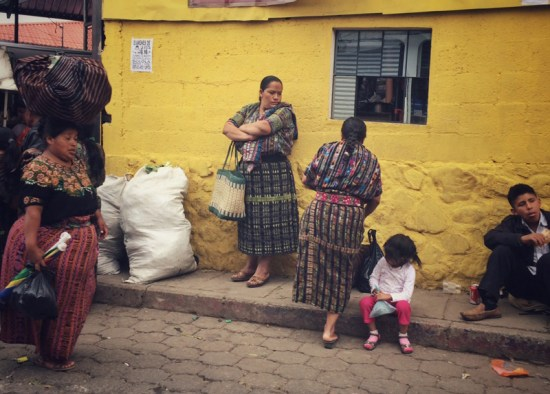Guatemalan people are known for their bright textiles