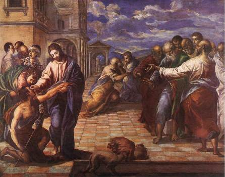 Can you see? Healing of the man born blind by El Greco.