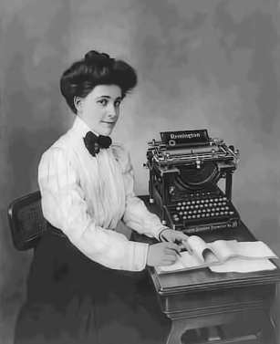 Miss Remington at the Remington Typewriter