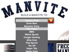 Manvite menu selections