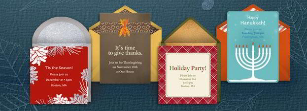 Invitations sample from Punchbowl
