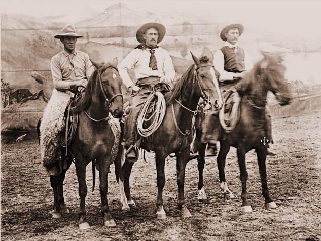 Angus McPhee, Lee Martin, Gus Uhl of Buffalo Bill's Wild West Show