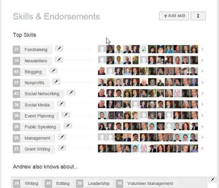 LinkedIn Endorsement Editing