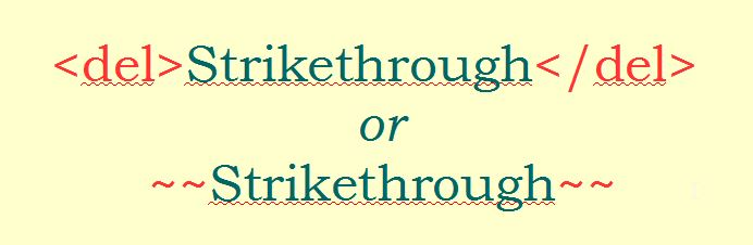 Strikethrough
