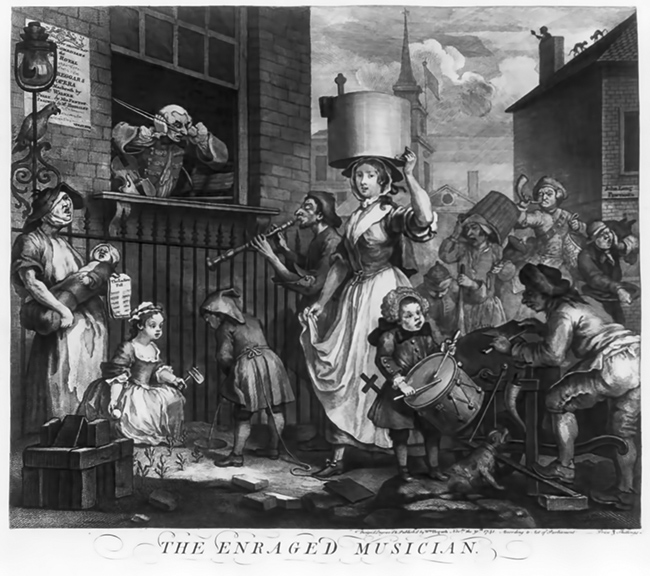 Hogarth - The Enraged Musician
