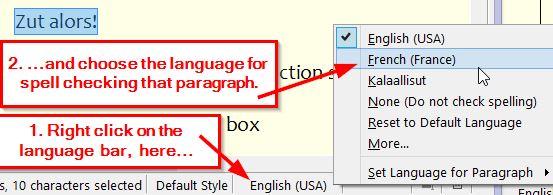 Language selection secret