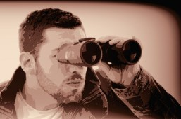 Man Looking Through Binoculars 2
