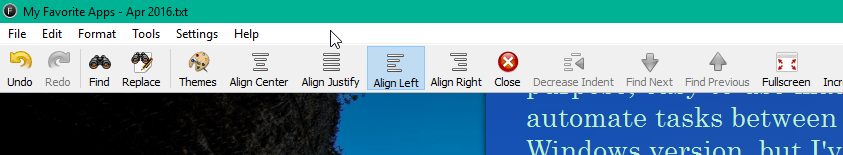 The Disappearing Menu and Toolbar