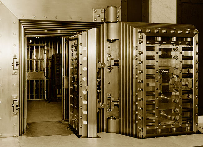 Bank Vault Door - Protect Your Passwords