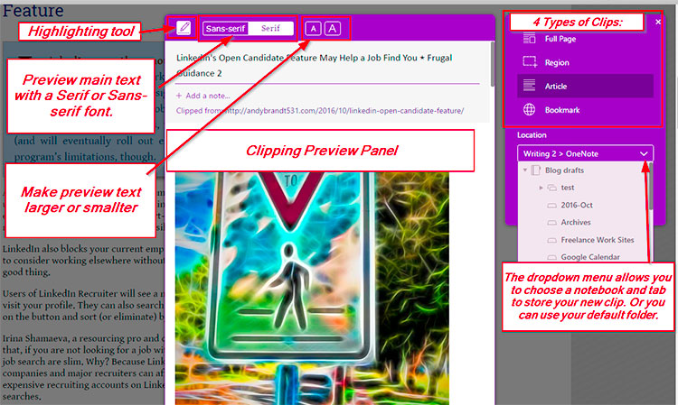 Comparing OneNote and Evernote Web Clippers ⋆ Frugal Guidance 2