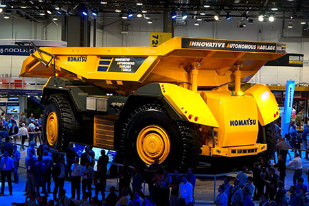 "A large autonomous truck in ""Robots and Construction"""