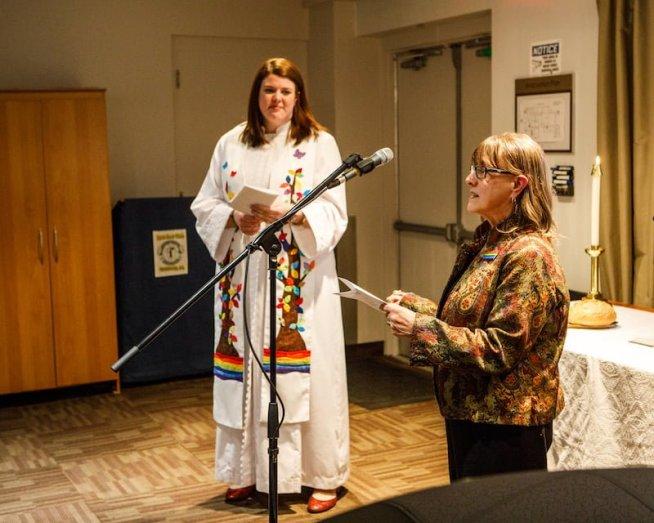 Rev. Hillary MacDonald and Calgary Presbytery Secretary Barb Lough