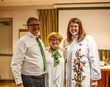 Council Chair John Palmer, Karen Palmer, Hillary MacDonald