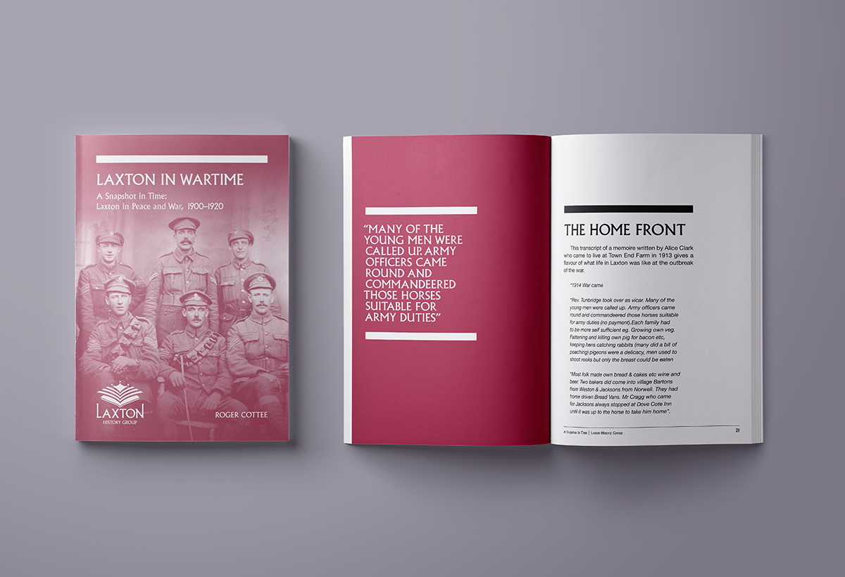 Laxton History Group Census Series Booklet Design