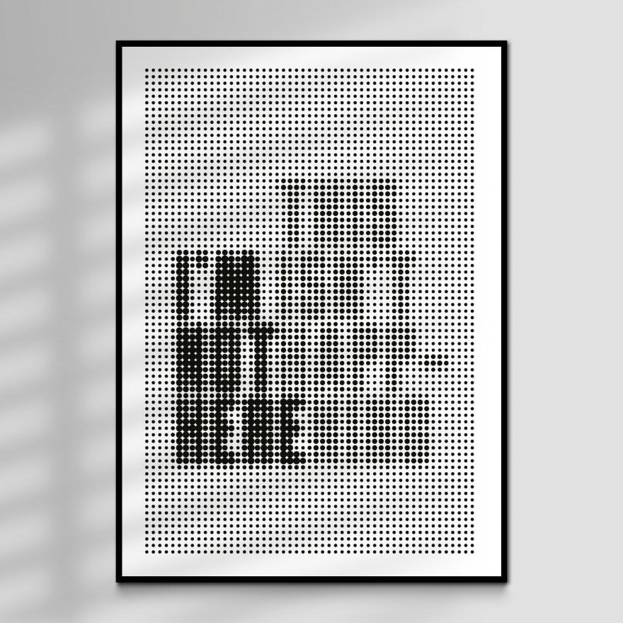 Radiohead Disappear Typographic Art Print