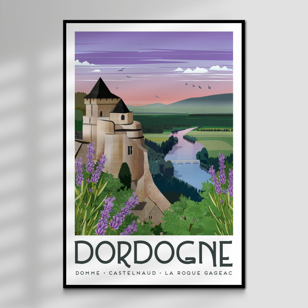 Dordogne Travel Art Print