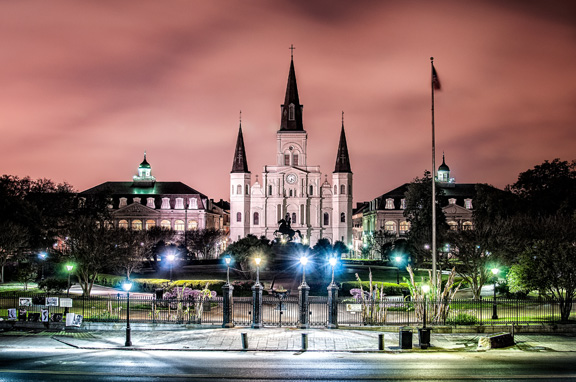 Jackson Square nighttime photography