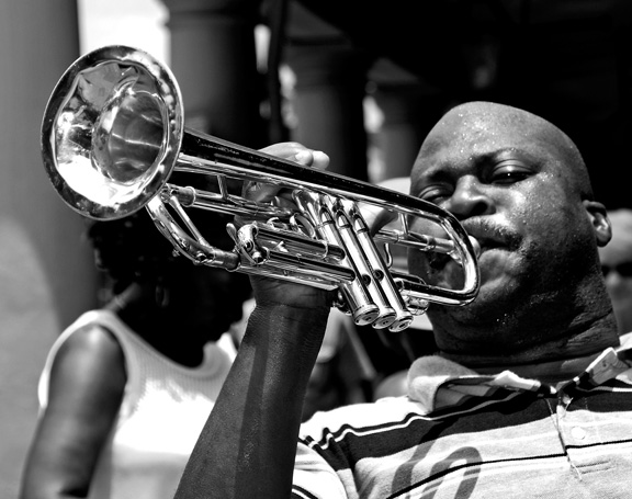 French Quarter blues photography