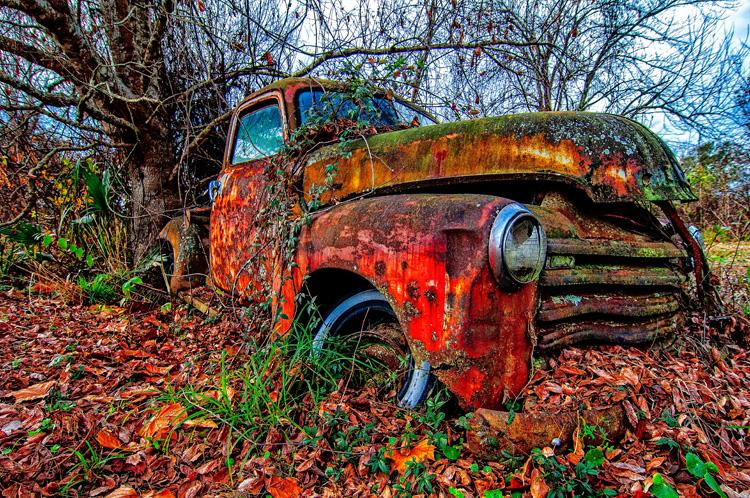 Fine art-classic 1950 Chevrolet truck