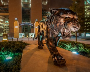 LSU football mascot Mike the Tiger