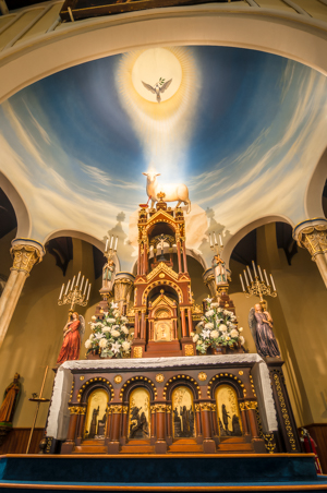 St. Michael the Archangel Church altar photography
