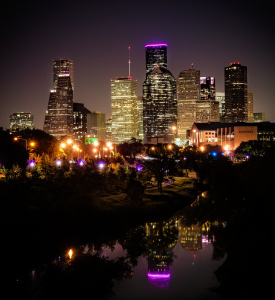 Houston skyline photography