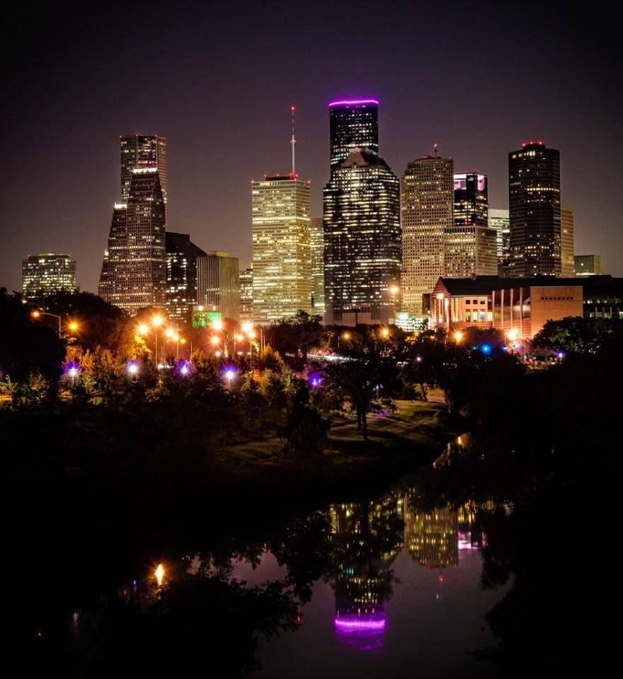 Houston skyline photography