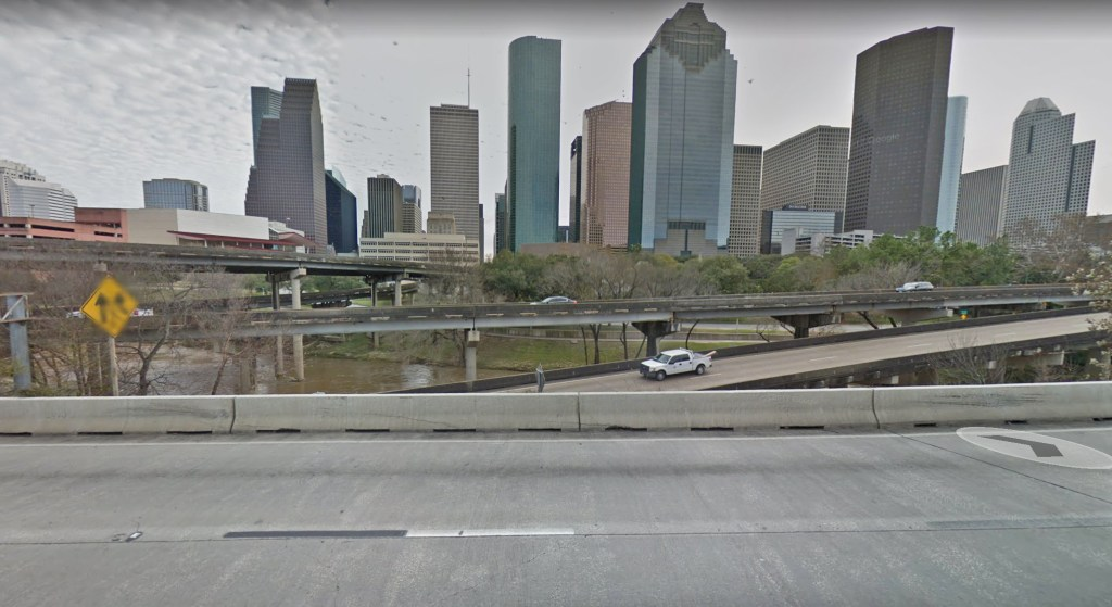 Houston before Hurricane Harvey flooding