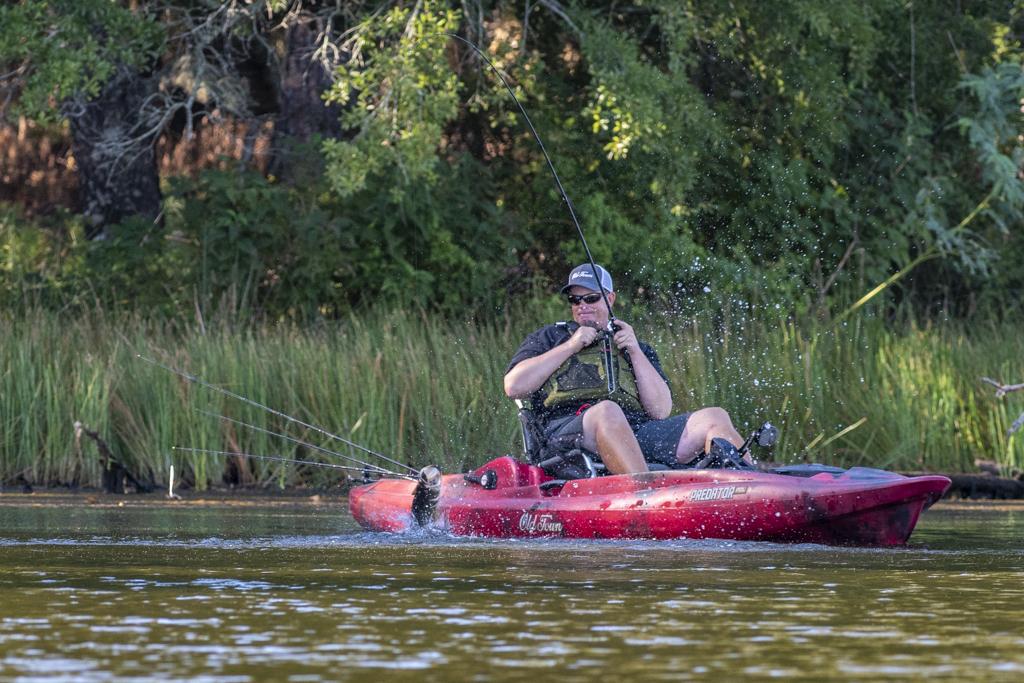 kayak fishing with Bassmaster Elite Series pro Keith Combs