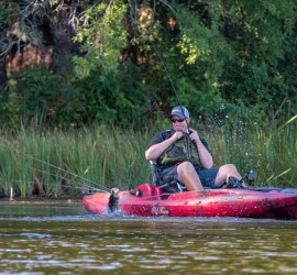 kayak fishing with Bassmaster Elite Series pro Keith Combs