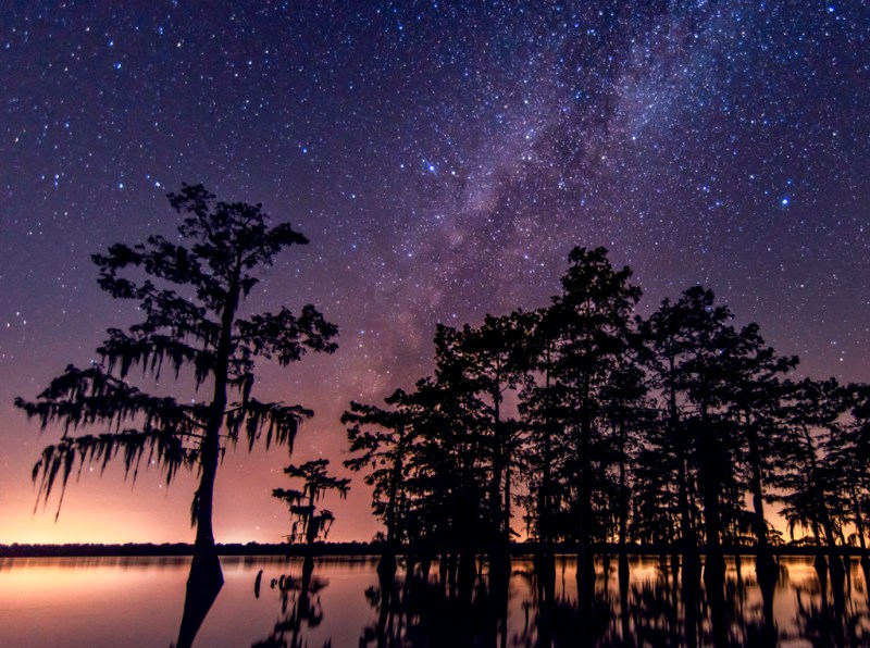 milky way photography swamps