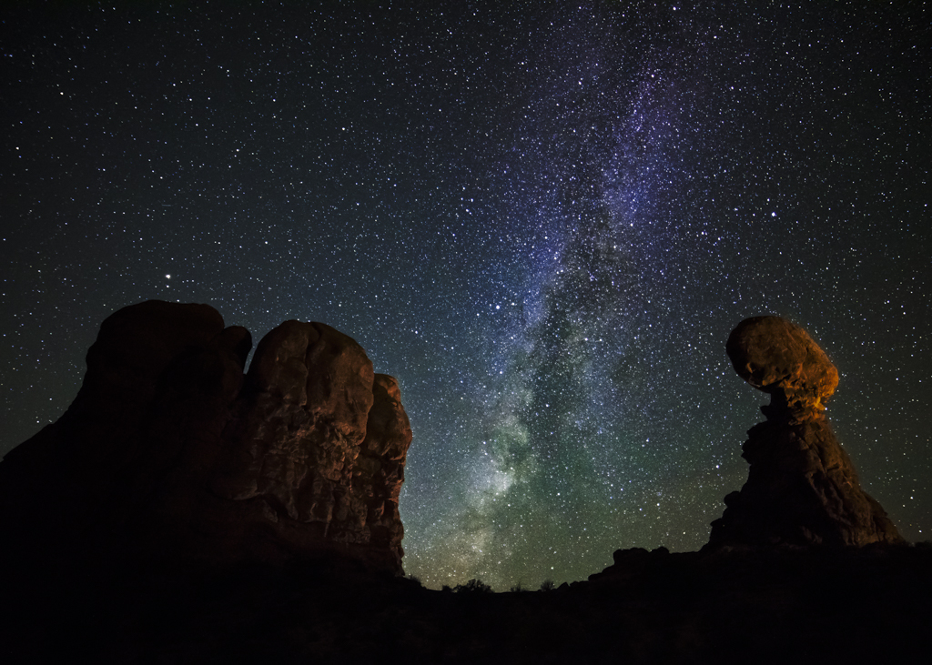 arches national park milky way photography