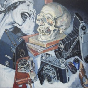 Still Life - The Death of Painting (Acrylic on canvas 60cm x 60cm)