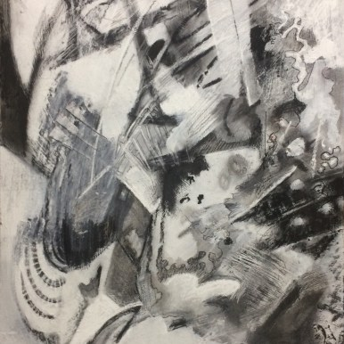 Abstract I (Charcoal on Board 61cm x 38cm)