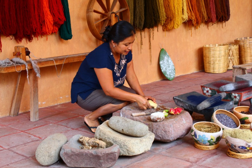 All of the dyes come from plants collected in the surrounding mountains
