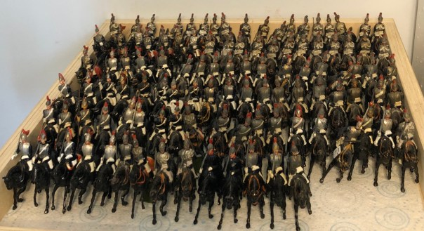 Lead soldiers. Britains Horseguards at Andy Morant toys.