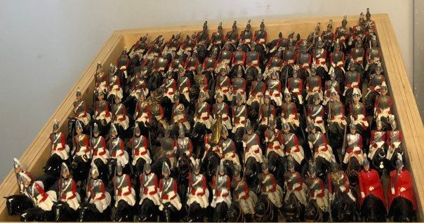 Lead soldiers. Britains Lifeguards at Andy Morant toys.