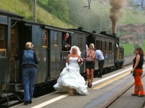 Swiss Steam Train Wedding 7