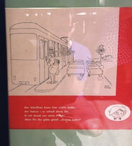 Historic advertisement providing advice to customers, Vienna Tram Museum (2011).