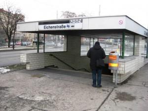 Entrance to Eichenstrasse underground tram station, Vienna.