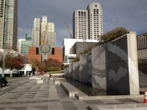 Yerba Buena Gardens and San Francisco Museum of Modern Art.