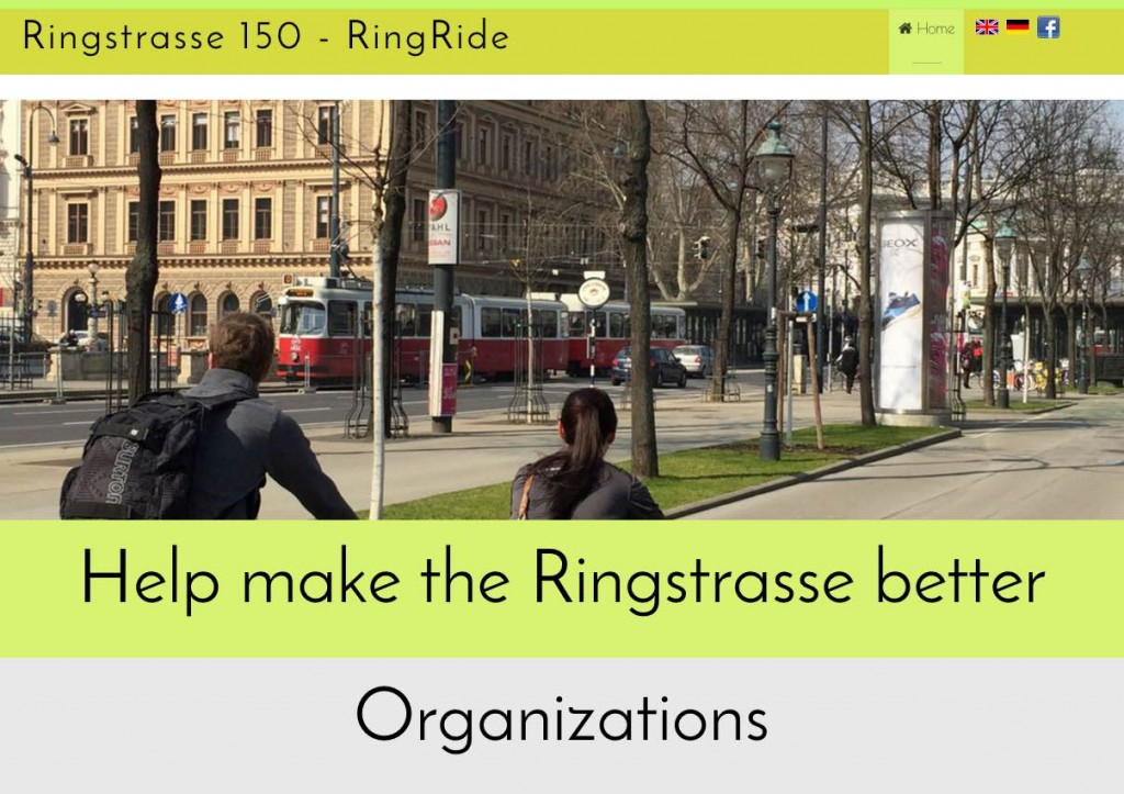 Ringstrasse150 homepage screenshot.
