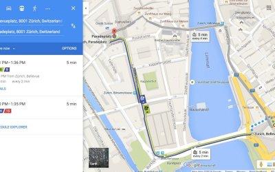 Google Transit and Vienna
