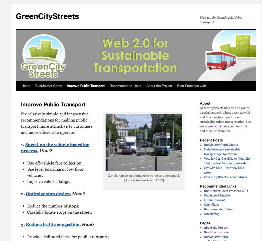 Improve Public Transport website BusMeister