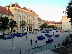 Photo of Museumsquartier courtyard without tent