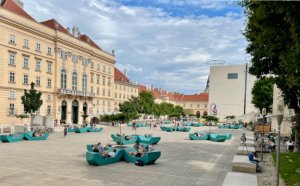 Vienna Museumsquartier on a pleasant summer day