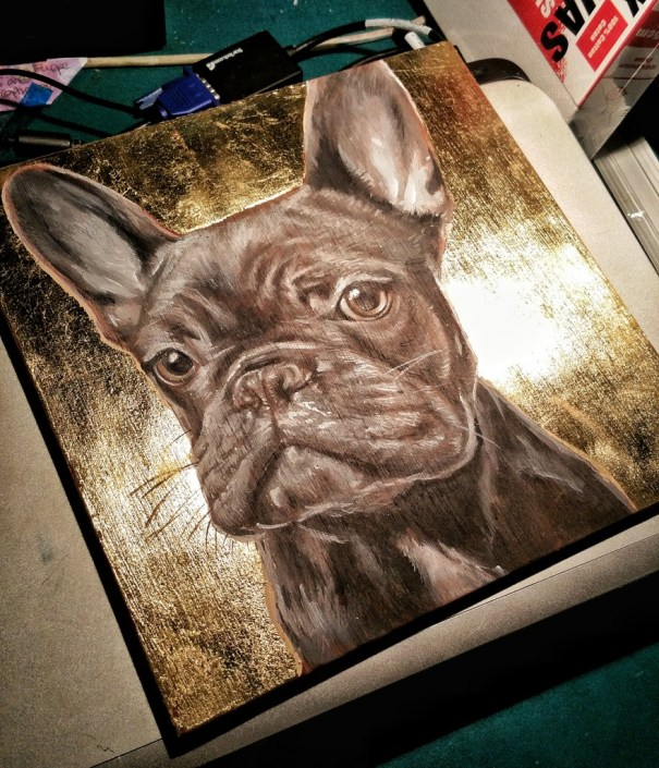 gold leaf frenchie