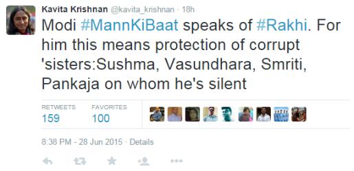 Kavita Krishnan tweet against Modi